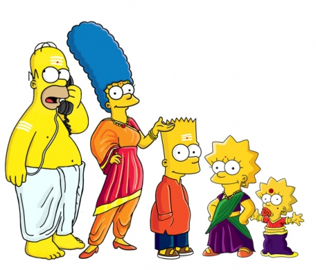 Simpsons - in desi style